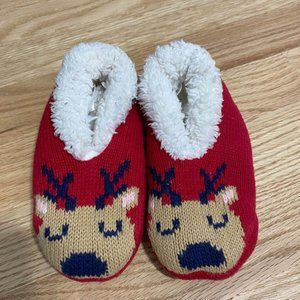 Gymboree Reindeer Slippers XS Red